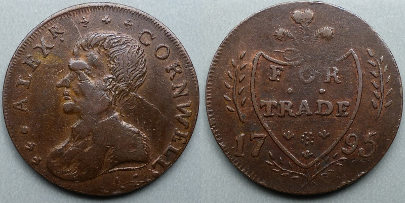 Dublin, Alexr. Cornwell FOR TRADE 1795 halfpenny