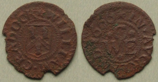 Bishop Auckland, William Cradock 1666 farthing