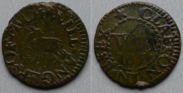 Much Clafton (Great Clacton), Will Anger 1654 farthing