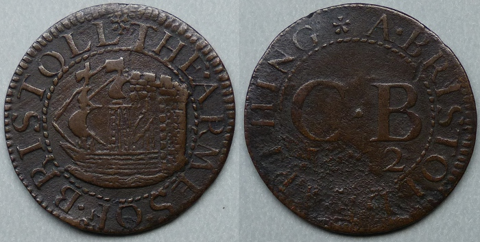 Bristol, city issue 1662 farthing N1534