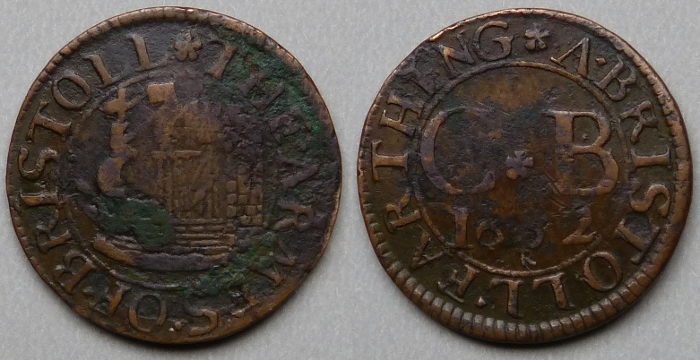 Bristol, city issue 1662 farthing N1545