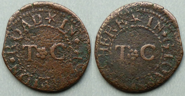 Hampton Road (Minchinhampton), T C farthing token