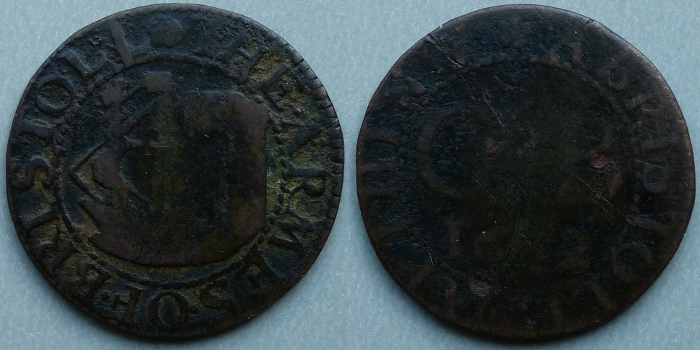 Bristol, city issue 1662 farthing N1525