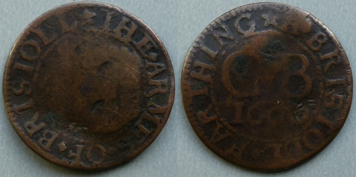 Bristol, city issue 1660 farthing N1512