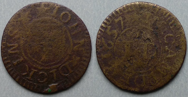 Chipping Campden, John Dickins 1657 farthing