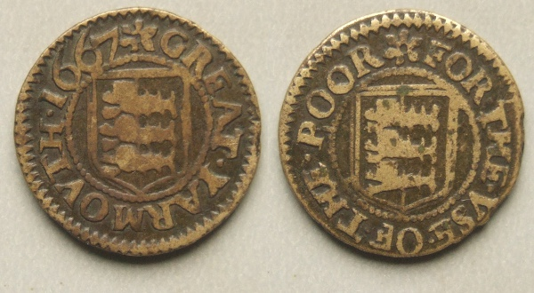 Great Yarmouth, borough issue 1667 farthing N3282