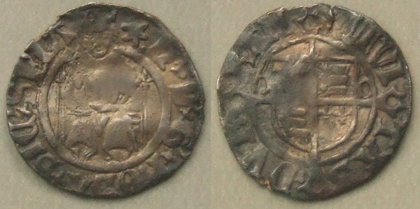 Henry VIII Durham Ecclesiastical mint Sovereign type penny, 1530