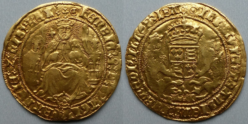 Henry VIII half sovereign - Click Image to Close