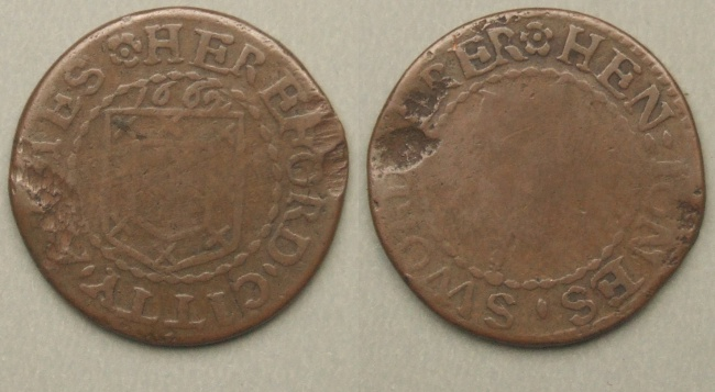 Hereford City trader's token 1662