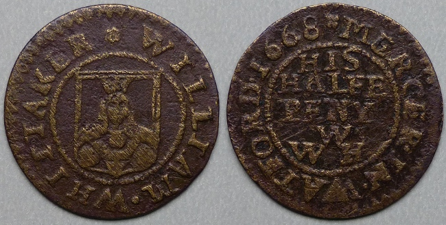 Watford, William Whittaker 1668 halfpenny