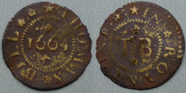 Royston, Thomas Bill 1664 farthing