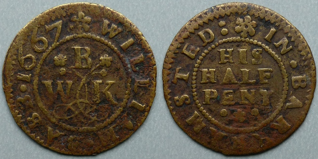 Berkhamstead, William Babb 1667 halfpenny