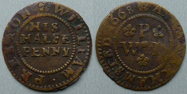 Berkhamstead, William Preston 1668 halfpenny