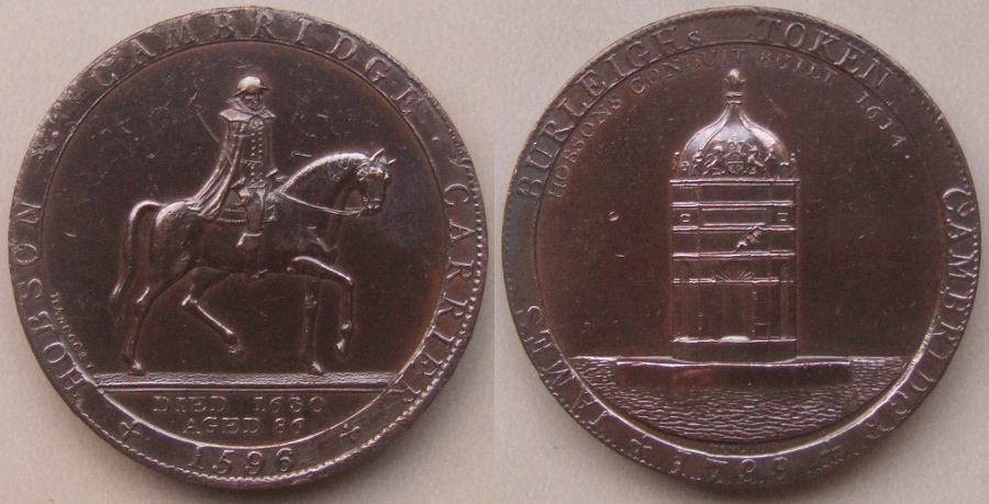 Cambridge James Burleigh's Token 1799