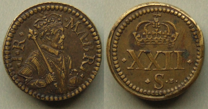 James I, Unite Coin Weight by Briot