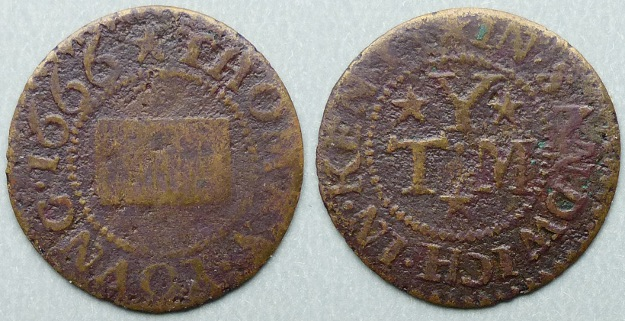 Sandwich, Thomas Young 1666 farthing