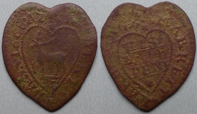 Market Harborough, Robert Bass 1668 halfpenny