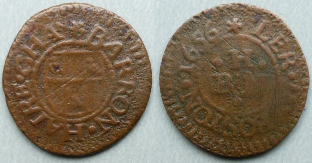 Boston, Barron Haire 1656 farthing
