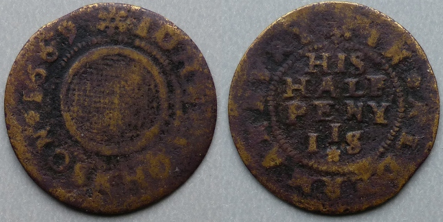 Aldermanbury, John Johnson 1669 halfpenny