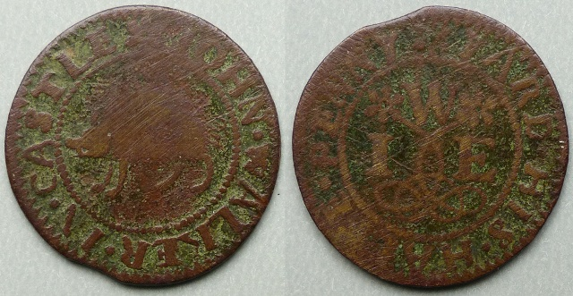 Castle Yard, John Walker halfpenny token