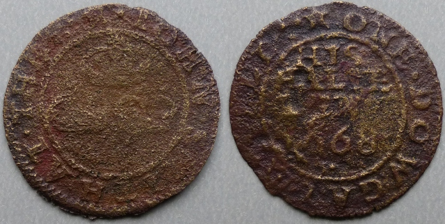 Dowgate Hill, John Smith 1668 halfpenny