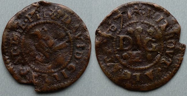 Aldgate Without, David Gillat 1671 halfpenny