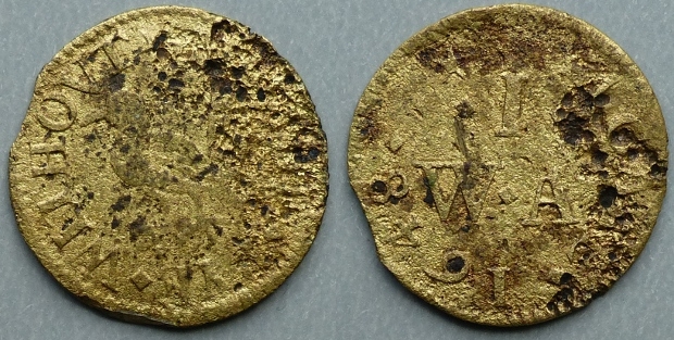 Aldgate Without, W I (A) AT THE PYE 1648 farthing