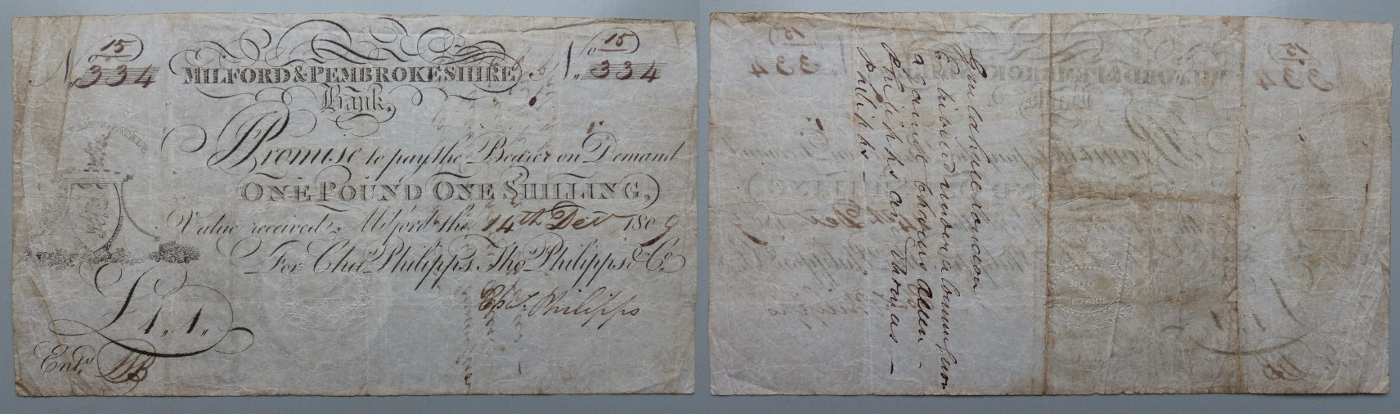 Milford & Pembrokeshire Bank, guinea banknote 1809