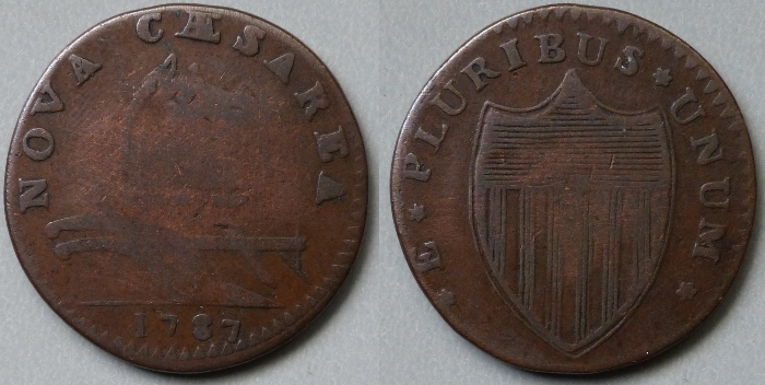 New Jersey, NOVA CAESAREA 1787 copper, Maris 29-L