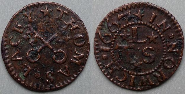 Norwich, Thomas Lacey 1667 farthing