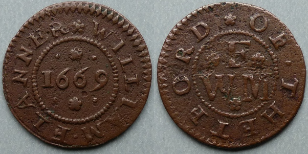 Thetford, William Flanner 1669 farthing