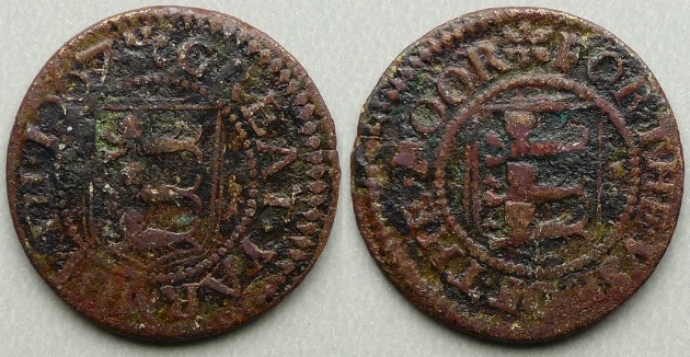 Great Yarmouth, borough issue 1667 farthing N3291