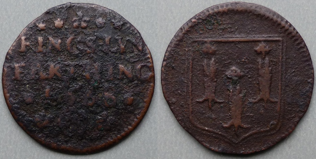 Kings Lynn, town issue 1668 farthing, N3065