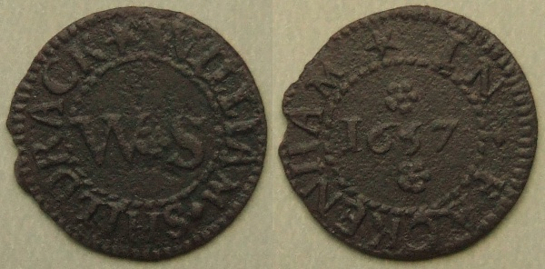 Fackenham, William Shildrack farthing 1657