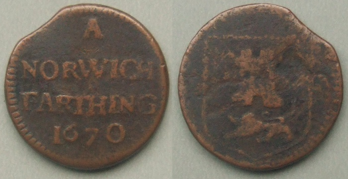 Norwich, city issue 1670 farthing, N3123