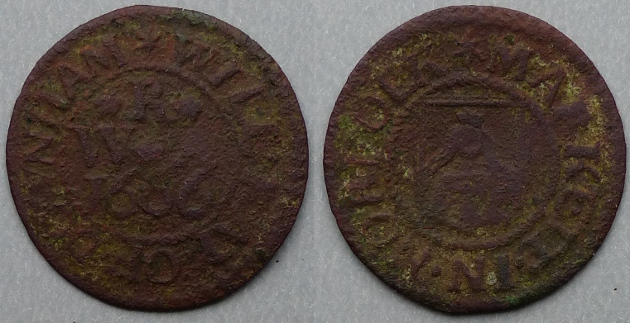 Downham Market, Will Ray 1666 farthing