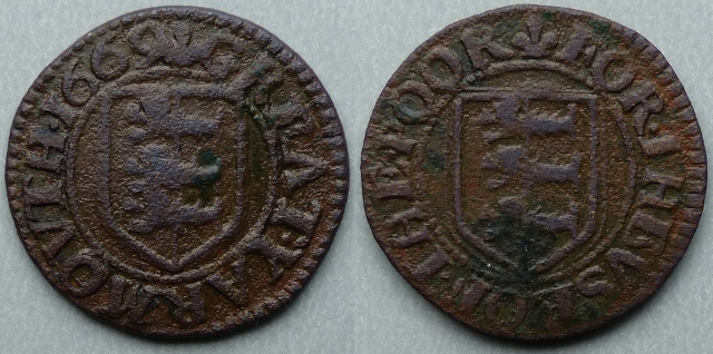 Great Yarmouth, borough issue 1669 farthing N3295