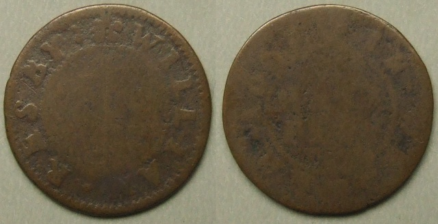 Weldon, William Resby 1668 halfpenny