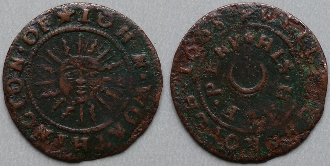 Wellingborough, John Worthington 1668 halfpenny