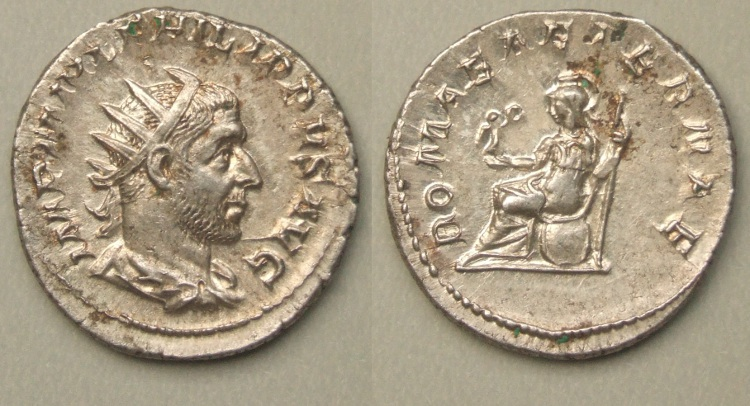 Philip I, Roma seated antoninianus