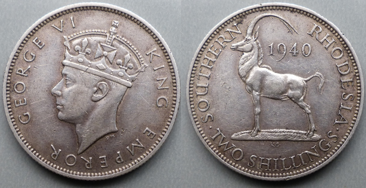 George VI, 1940 2 shillings
