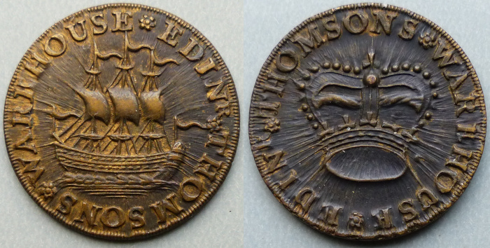 Edinburgh, Thomson's Warehouse farthing D&H 131
