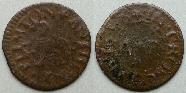 Croscombe, Anthony Plimton 1656 farthing