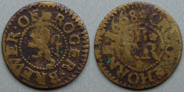 Crewkerne, Roger Brewer 1668 farthing