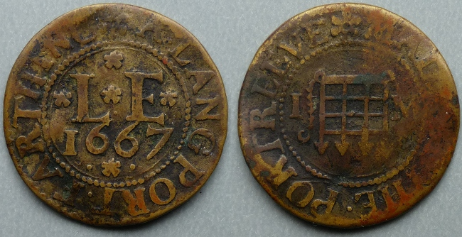Langport (Eastover), 1667 town issue farthing