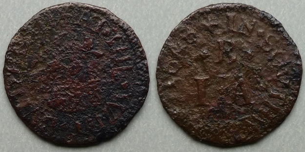 Borough High Street, I B (A) AT THE WHIT BULL HEAD 1648 farthing