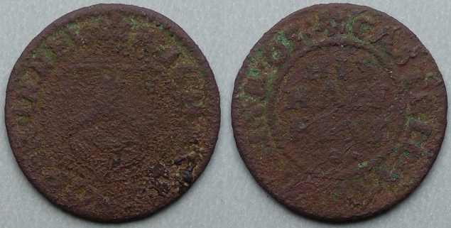 Newcastle-under-Lyme, Richard Cooper 1665 halfpenny