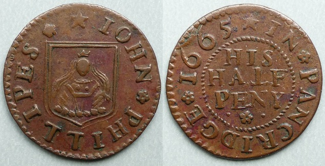 Penkridge, John Phillipes 1665 halfpenny