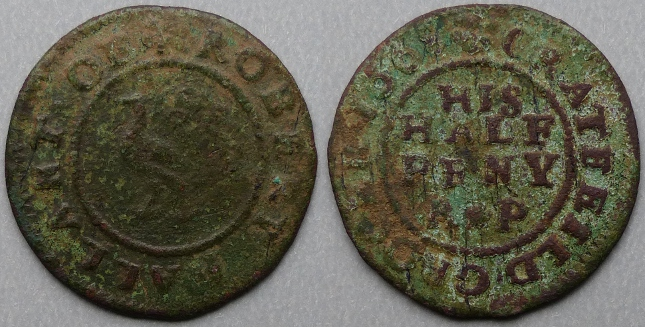 Cratfield, Robert Pallant 1668 halfpenny