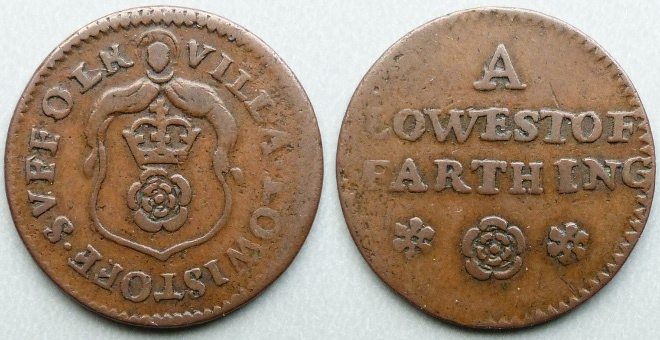 Lowestoft, town issue farthing token